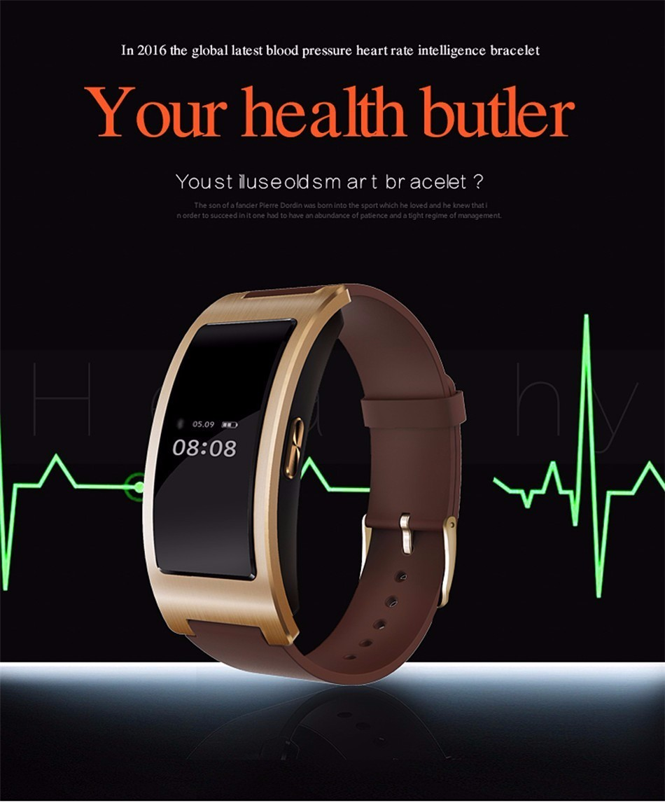 Bluetooth smart watch bransoletka zespołu blood pressure monitor tętna ck11 smartwatch krokomierz fitness dla ios android 1