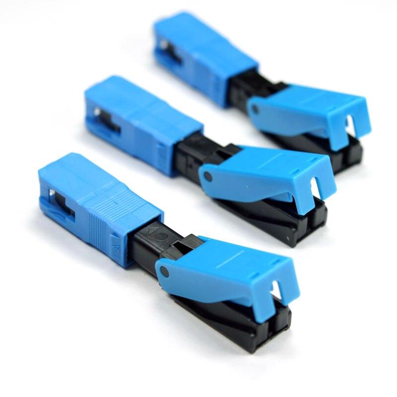 200PCS Fast Connector FTTH SC UPC Optical fiber covered wire SC UPC FTTH Fiber Optic SC