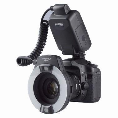 Yongnuo YN-14EX YongnuoYN 14EX TTL LED Macro Speedlite anneau Flash lumière pour Canon 5D Mark II 5D Mark III 6D 7D 60D 70D 700D 650D