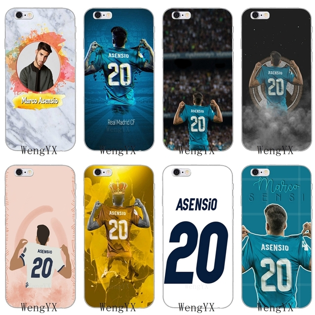 footballer Marco Asensio 20 Slim silicone Soft phone case For iPhone ...