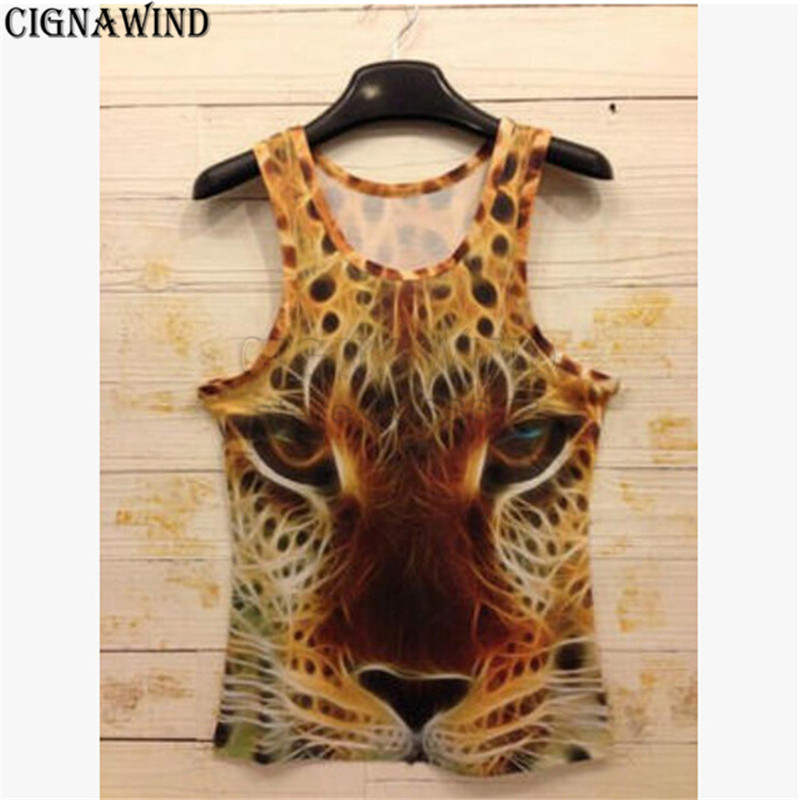 Men's Clothing Genteel Latest Funny Sleeveless Vests Men/women Tiger/wolf/leopard/cat 3d Print Vest Cute Monkey Animals Tanks Bodybuilding Tops Tank Tops