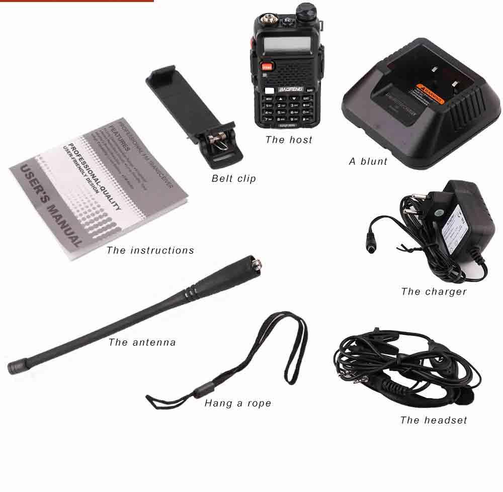 2Pcs BaoFeng UV-5R Walkie Talkie VHFUHF136-174Mhz&400-520Mhz Dual Band Two way radio Baofeng uv 5r Portable Walkie talkie uv5r (18)