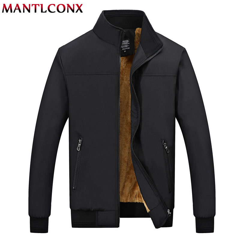 MANTLCONX Winter Jacket Men 2019 Brand Casual Mens Jackets And Coats Thick Men Outwear Jacket Male Clothing Fleece Thicken Coats