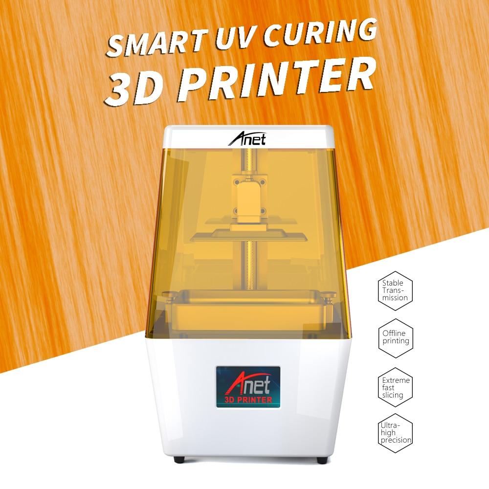 NOVA ANET N4 UV SLA Impressora de LCD 3D/de Moscou/2 K HD 3.5 Polegada Inteligente Colorido Touchscreen U Disco Off-line de Impressão