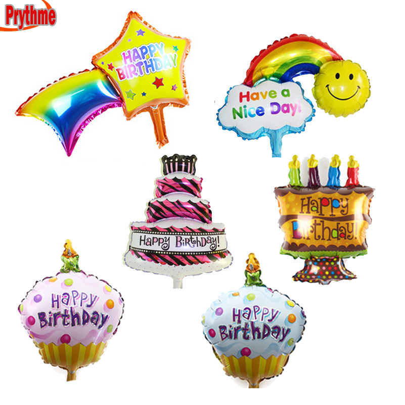 Festive & Party Supplies Tabletop Decorations Mini Balloons Birthday Cake /candle /meteor Balloon Happy Birthday Party Supplies Infant Toys 12pcs/lot