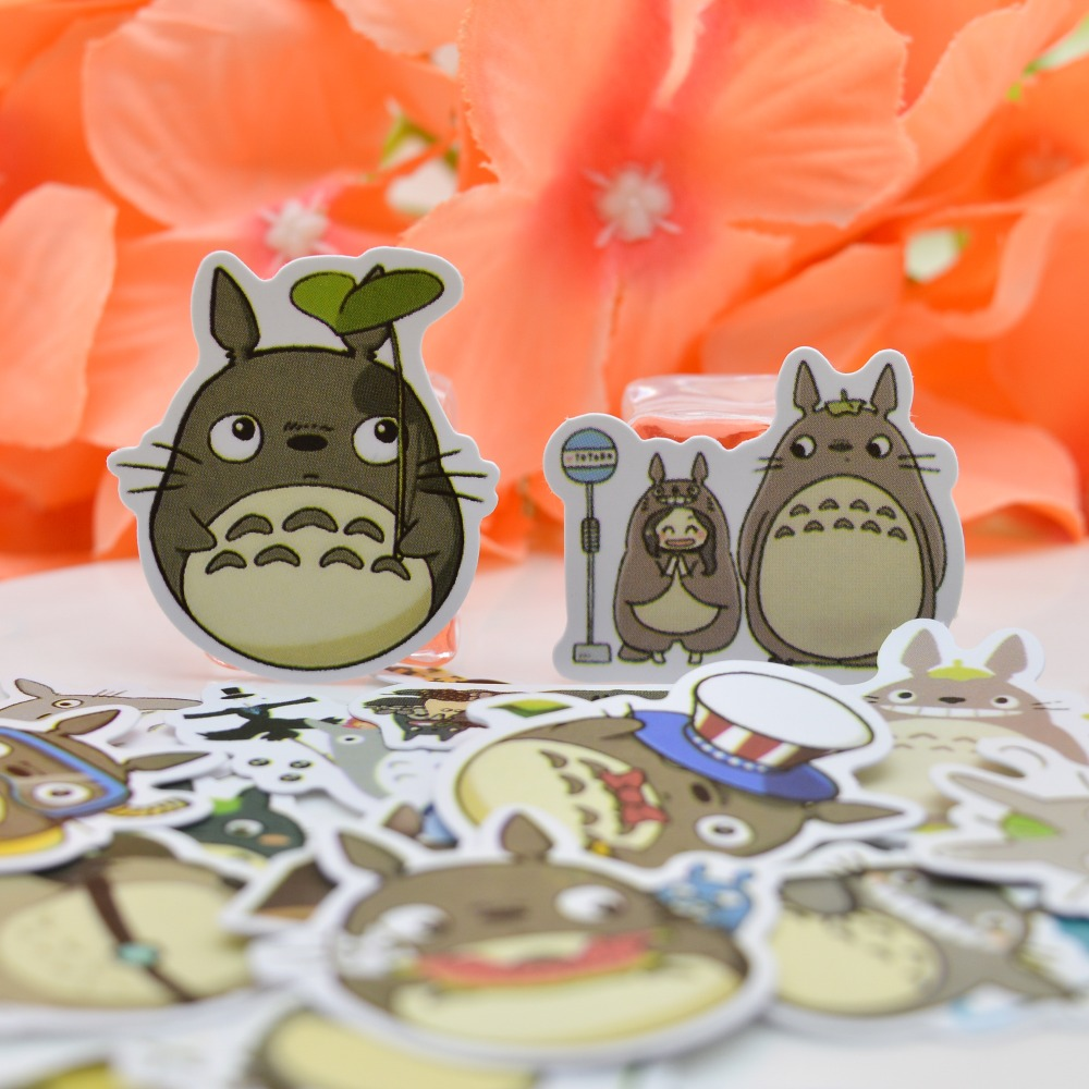 35pcs Japanese Cute Totoro Stickers Diary Notebook Paper  Pack Decorative Scrapbooking DIY