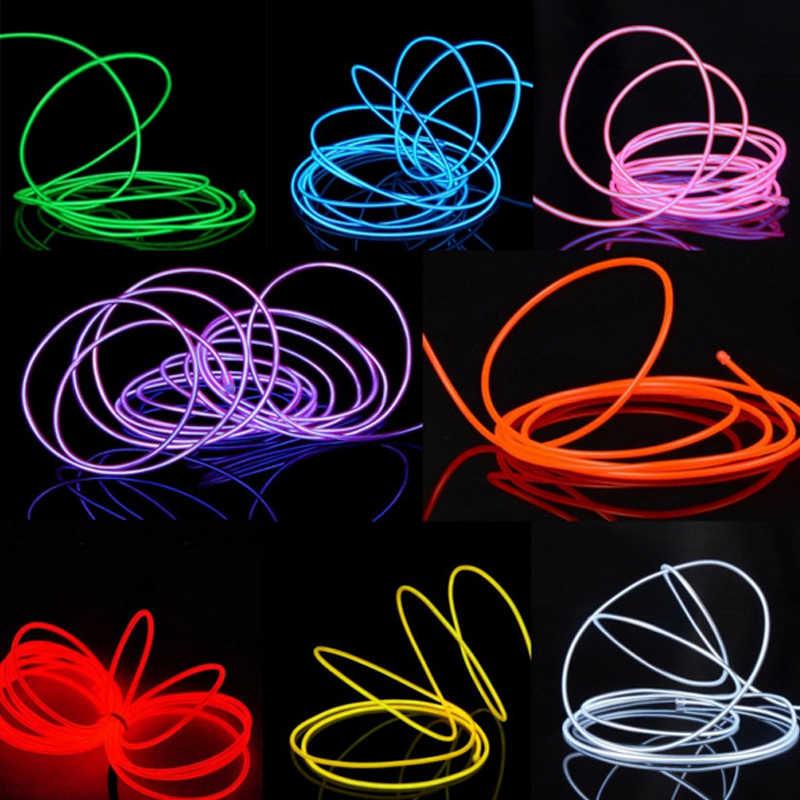 5 м/3 м/2 м/1 м 3 в гибкая светодиодная лента неоновый свет светящийся EL провод изолента кабель для обуви Одежда для автомобиля вечерние украшения