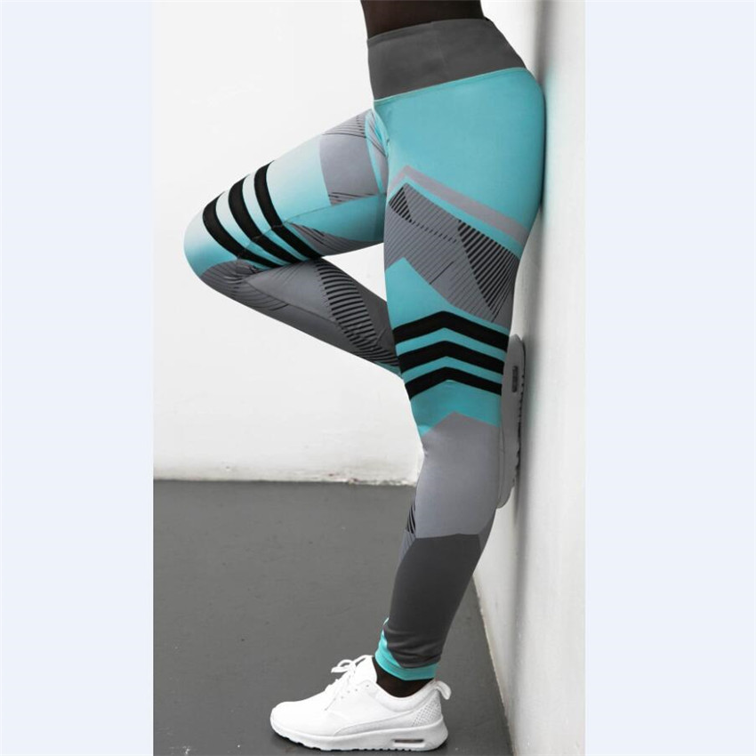Fashion Women Gyms Leggings High Elastic Leggings Printing Women Fitness Legging Push Up Pants Clothing Sporting Leggins Hot