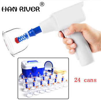 HANRIVER Electric cupping apparatus 24 tanks suit rechargeable vacuum suction thickening cupping DIANDONGBAGUANQI
