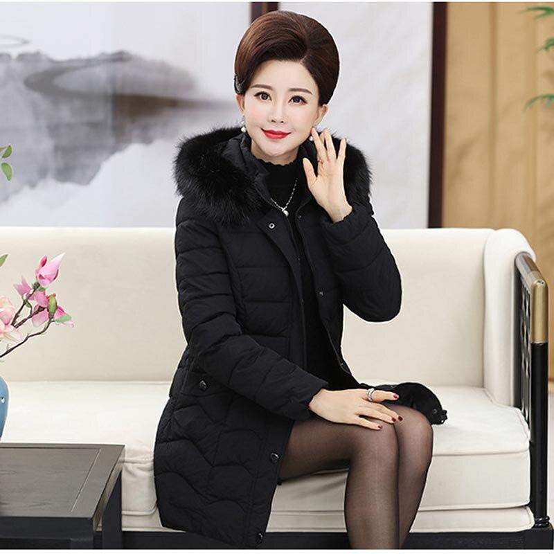 bourgogne Noir Long Taille D'âge Coton Grande Plus Veste Épaissie De Des Moyen P20172123 Velours Femmes Manteau vert Uqwa1fUT