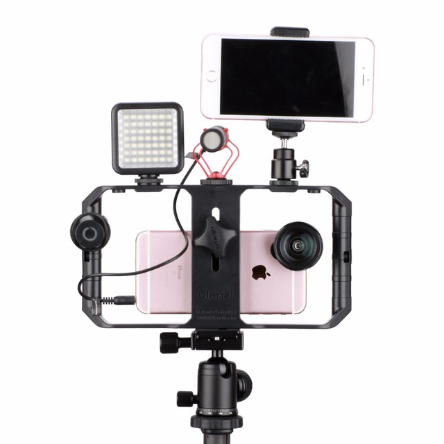 Ulanzi U-Rig Pro Smartphone Video Rig w 3 Shoe Mounts Filmmaking Case Handheld Phone Video Stabilizer Grip Tripod Mount Stand 3