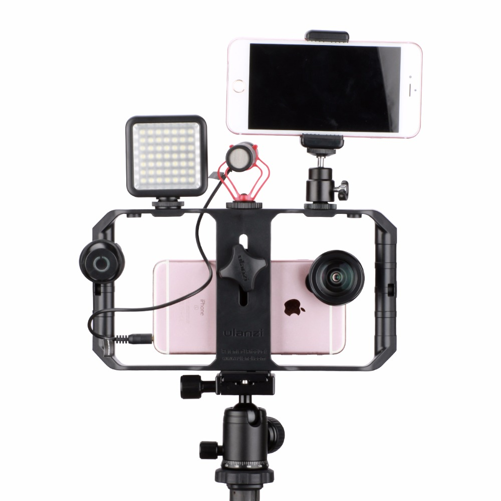 Image 4 - Ulanzi U Rig Pro Smartphone Video Rig w 3 Shoe Mounts Filmmaking Case Handheld Phone Video Stabilizer Grip Tripod Mount Stand-in Photo Studio Accessories from Consumer Electronics