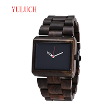 YULUCH Men's Quartz Luminous Needle Watch Classic Brand Business Natural Ebony