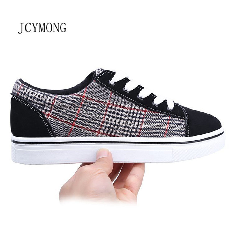 JCYMONG 2018 Hot!Summer Sneakers Women Canvas Shoes Female Patchwork Fashion Lace up Casual Shoes Feminino Zapatillas Mujer