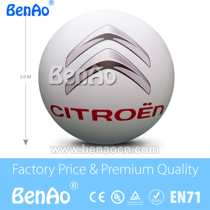 AO060 DHL Free Shipping 2m  Inflatable  Helium balloon for advertising/PVC inflatable helium sky balloon/large  helium balloons