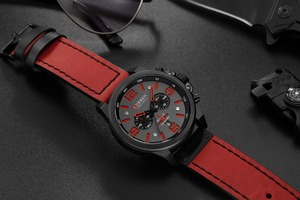 Image 4 - Reloj Hombre 2018 Casual Date Quartz  Watches For Men CURREN Fashion Leather Sports Mens Wrsitwatch Chronograph Male Watch