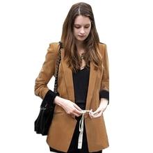 Nice Women Fall Fashion Jaquetas Feminina Patchwork Different Color Slim Suit Women Blazers And Jackets JT96
