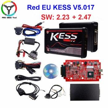 2018 Master Online EU Kess V5.017 Red Kess V2 Kess V2.47 ECU Chip Tuning Tool No Token Limited Ktag V7.020 V2.23 ECU Programmer kess v2 olx
