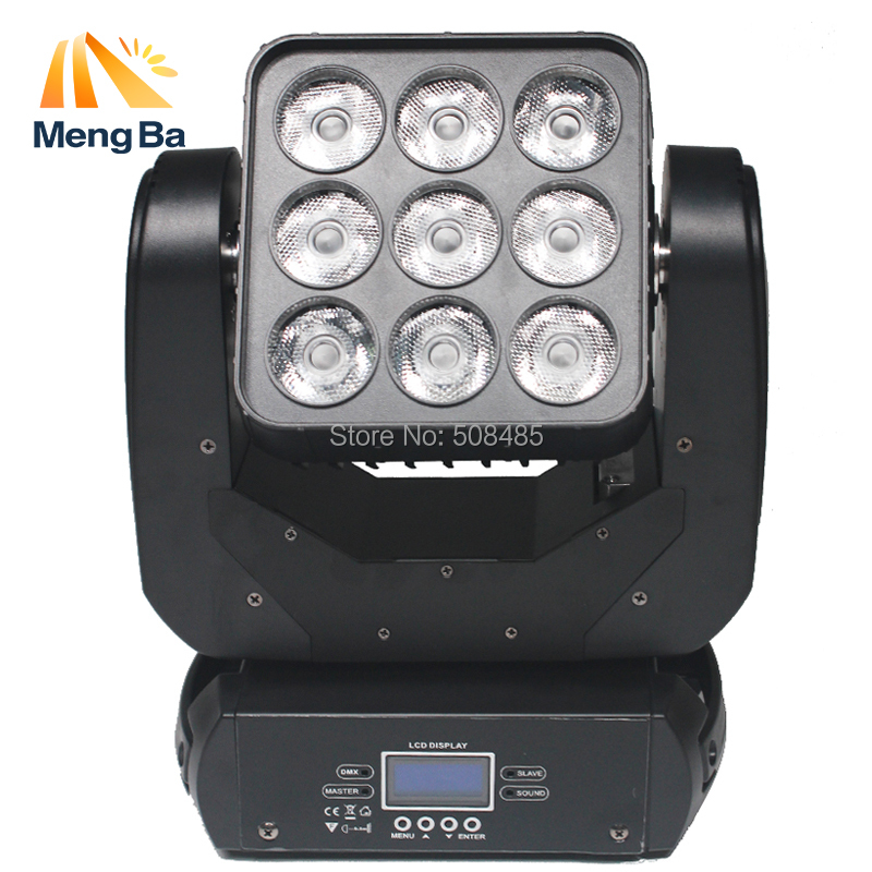 LED 9*12W RGBW Matrix Wash Moving Head Light Professional DMX 512 Dj Disco Wedding Party Event Stage Effect Beam Light