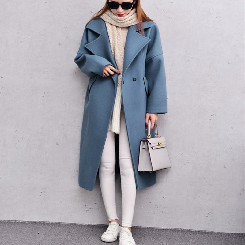 Blue Womens Wool Coat Promotion-Shop for Promotional Blue Womens ...