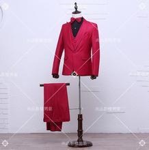 3 Pieces Men's suit sets suit pant vest Groom groomsman formal dress wedding suit Singers stage wear costumes VSTINUS