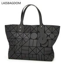 2018 New Arrival Women Bag Geometric Bag Shoulder Handbag Frosted Luminous Hand Diamond Lattice Noctilucent Bag Casual Tote