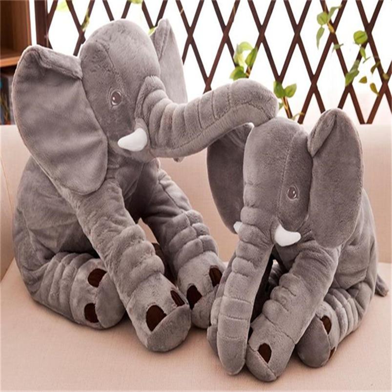 Gray Elephant Plush-Toys Baby Pillow Stuffed Animal 30cm Soft Children New Z131 40cm
