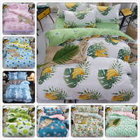 Banana Tree Creative Pattern New Soft Cotton 3pcs/4pcs Bedding Set Bed Linens Bedspreads Single Twin Queen King Size Duvet Cover