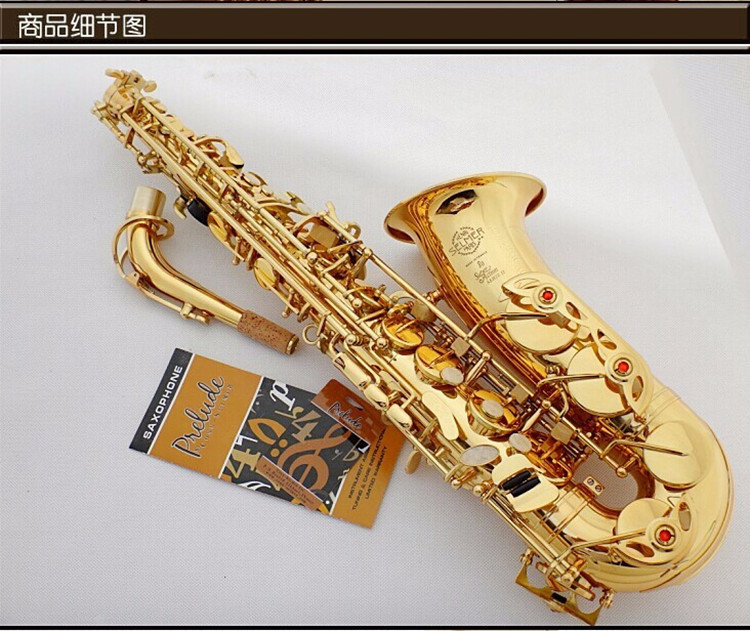 New Saxophone Alto Henry France SELMER Eb SAS-802 Sax instruments Electrophoretic gold Accessories complete Free shipping new and original dvp16sm11n delta plc extension module 16 points input