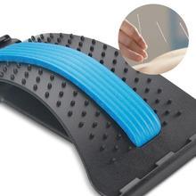 Облегчение боли в позвоночнике поясничное тяговое устройство для растяжения поясницы позвоночника Расслабление спины Массажная доска Предотвращение поясничного диска грыжа скобка