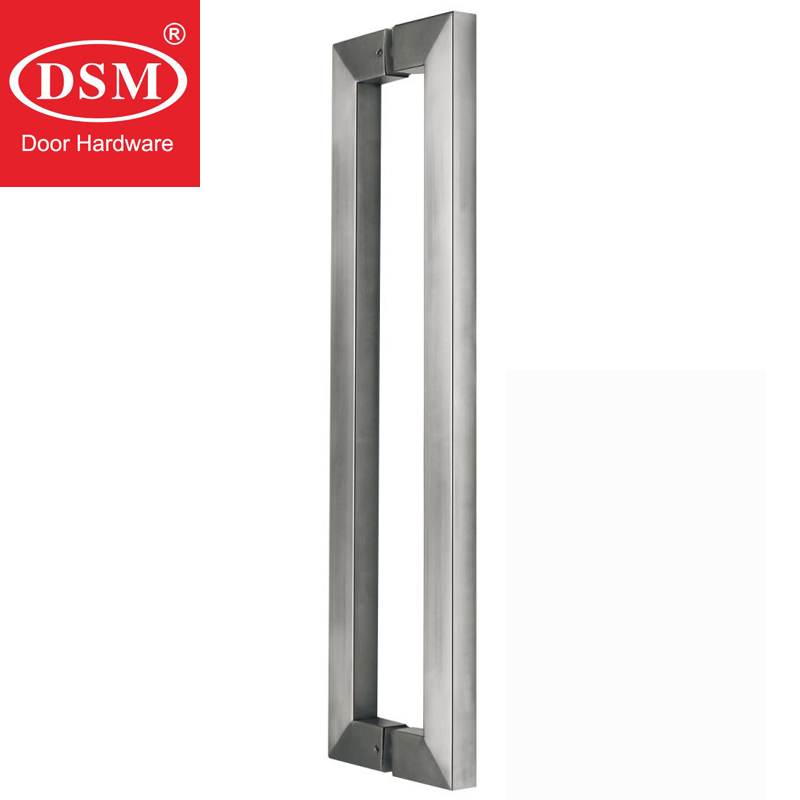 Durable Entrance Door Pull Handle Made Of Brushed Stainless Steel For Glass/Wooden/Metal Doors PA-146-25*38*1200mm modern entrance door handle 304 stainless steel pull handles pa 104 32 1000mm 1200mm for entry glass shop store big doors