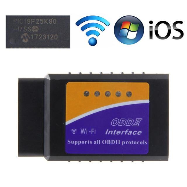 LM327 V1.5 PIC18F25K80 WIFI OBDII OBD2 Diagnostic Scanner ELM 327 V1.5 Car Code Reader For IOS/Android Tool