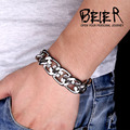 High Quality Man's Heavy Metal Biker Chain Bracelet For Men 316L Stainless Steel Jewelry BC4077