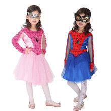 Umorden Purim Carnival Halloween Costumes Pink Red Kids Girl Spider Man Costume Girls Spiderman Cosplay Fantasia Dress Disfraces