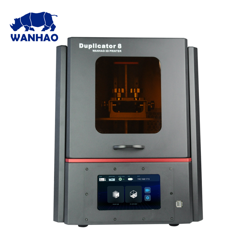 2019 Nova Versão D8 DLP LCD Resina Jóias Dental Grande 3D WANHAO Impressora Venda Direta Da Fábrica com 500ml de resina e frete grátis