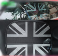 2 unids union jack negro ventana parasol para mini cooper F56 F55 countryman R60