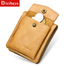 DICIHAYA Men Wallets Genuine Leather Casual Wallet for Men Short Standard Wallets with Coin Bag Card Holders Vintage Man Purse