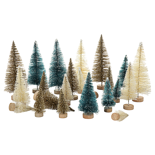 Aliexpress Com Buy 24pcs Mini Christmas Tree Home Desk Diy Craft