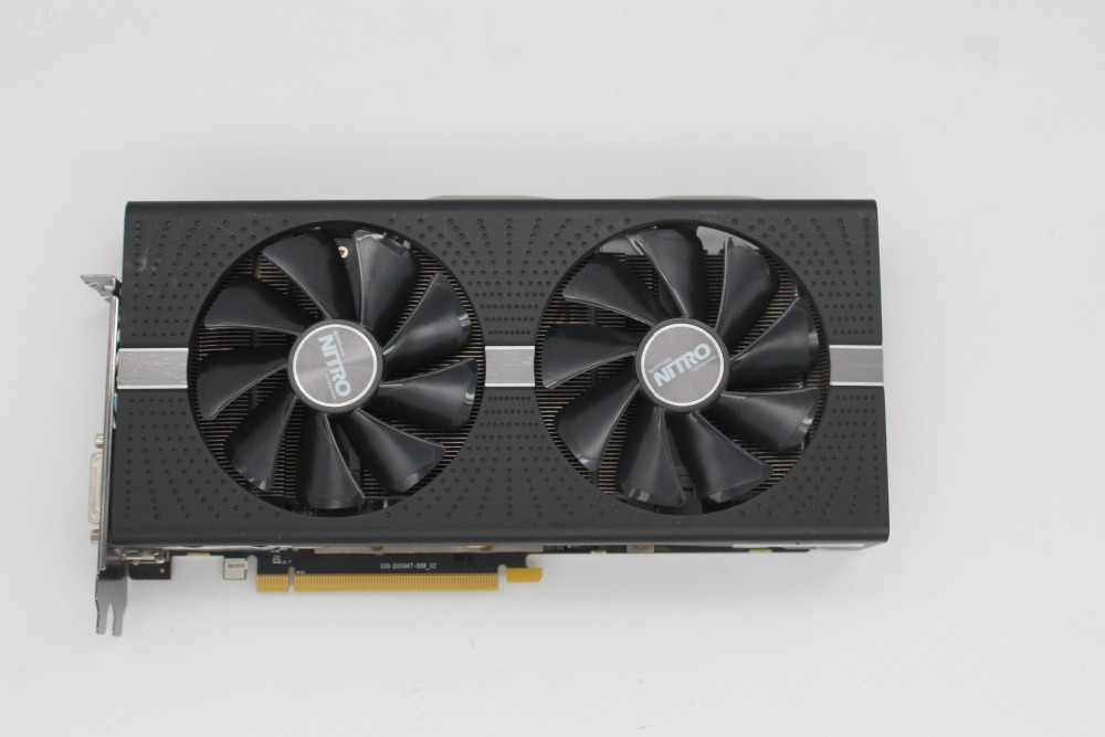 Used,Sapphire Radeon <font><b>RX580</b></font> 4GB GDDR5 PCI Express x16 3.0 video gaming graphics card external graphics card for desktop image
