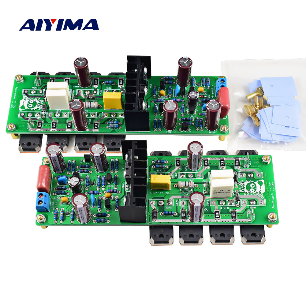 AIYIMA 2PC L20.5 Dual Channel Audio Amplifier Board Amplificador 250W*2 HIEND Ultra low Distortion KEC KTB817 KTD1047 AMP-in Amplifier from Consumer Electronics    1