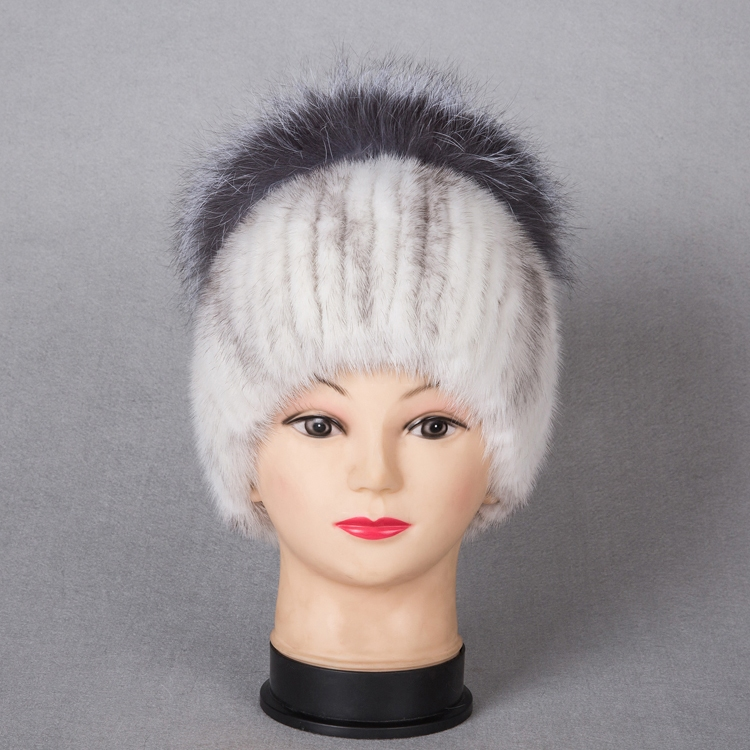 Natural Fur Beanie Hat for Women Winter Luxury Fox Fur Top Hat Beanies Thicken Knitting Lined Female Newest Hats Cap autumn winter beanie fur hat knitted wool cap with silver fox fur pompom skullies caps ladies knit winter hats for women beanies