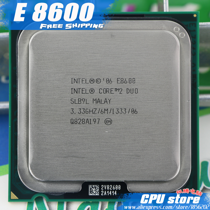Intel CPU Processor 775 E8500 Dual-Core-Socket 2-Duo Working Sell 100-%