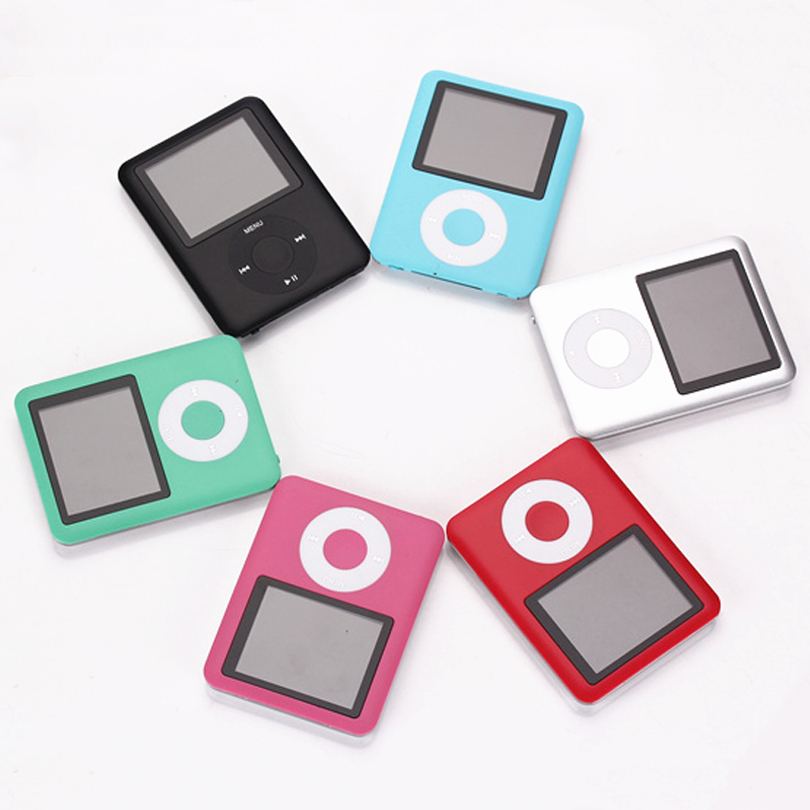 SMILYOU New Mini MP3 MP4 Music Player 4GB 8GB Memory 1.8 inch LCD Screen FM Radio Video Player Black Blue Silver Blue Pink Green image