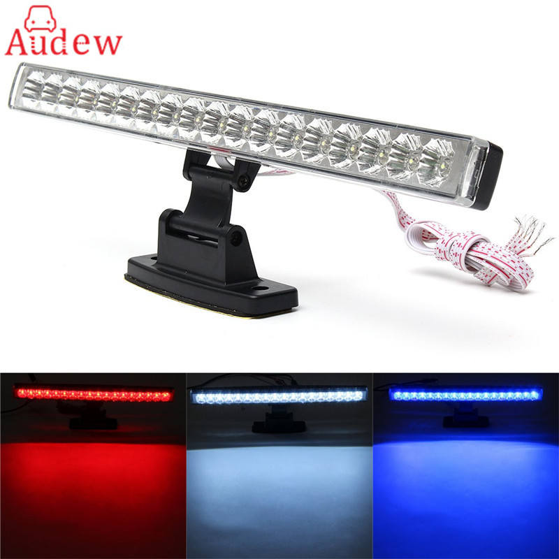 Car  Universal 18 Red LED Third Stop Brake Light Bar Tail Lamp Reverse Turn Signal Running Lights