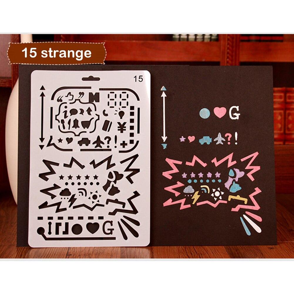 ①Navidad tarjeta plástico stencils regla hueco viaje planificador ...