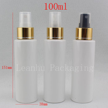100ml White Plastic Makeup Astringent Toner Bottles,Empty Cosmetic Containers,100CC Refillable Makeup Water Fine  Spray Bottles
