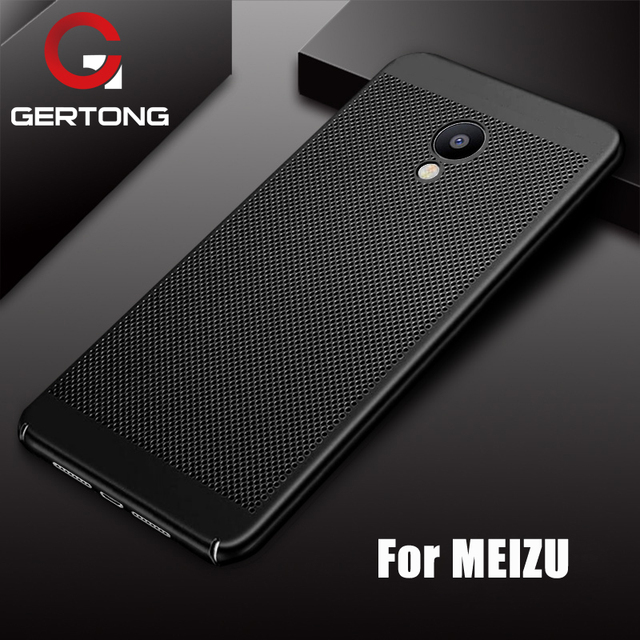 GerTong Heat Dissipation Phone Case For Meizu M5 Note M3 Note Cases Back Cover For Meizu M5S M5C M6 Pro7 Plus Hard PC Housing