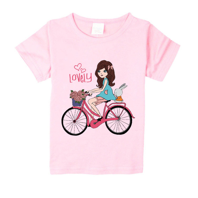 5406a818d87 1-8 years baby Girl t-shirt big Girls tee shirts for children girl blouse  sale t shirt 100% cotton kids summer clothes