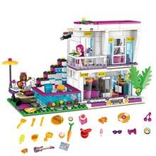 760PCS Friend For Girls Pop Star Livis House model Building Block DIY figures Bricks Educational Toys for children
