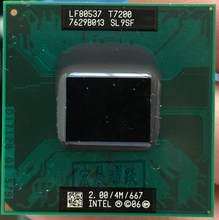 Процессор Intel Core 2 Duo T7200, процессор для ноутбука PGA 478, 100% рабочий процессор